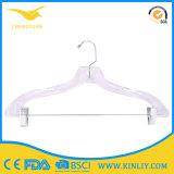 Bride de fixation transparente de plastique de vêtement de couche de cintre de qualité