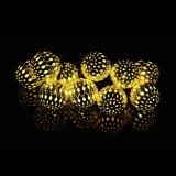 Wasserdichte angeschaltene LED-Kugel-Zeichenkette-Solarlichter für Garten-Patio