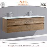 Governo fissato al muro di vanità della stanza da bagno del MDF della quercia del PVC di N&L 2017
