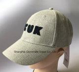 Sombrero de béisbol de la manera en la tela de lino con el '' fcuk '' Emb en el frente (LY083)