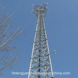 Gegalvaniseerd Drie Legged Tubulaire Zelfstandige Types van Staal van Communicatie Toren