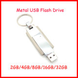 Movimentação do flash do USB do metal da vara do USB do giro da vara do USB do Keyring
