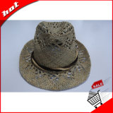 Chapéu de palha natural Fedora Panamá Fashion Hat
