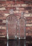 De super Duidelijke Vierkante Fles van het Glas 750ml