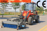 CE Approved Compact Shovel Loader di Everun con Sweeper