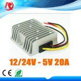 Gleichstrom 12V 24V zum 5V 20A 100W Auto LED-Bildschirmanzeige-Stromversorgungen-Gegenspannungs-Regler