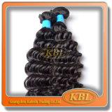 Волосы девственницы глубокой волны оптовой цены бразильские