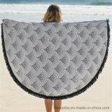 Manta redonda de la playa de la toalla de playa del algodón