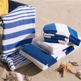 Toalha 100% do hotel de toalha de banho de toalha de praia da listra do algodão
