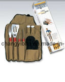 ensemble en nylon de tablier d'outil de BBQ 7PC