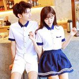 Modèle élevé uniforme d'uniforme scolaire de sexe de fille de Shool