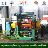 Máquina aberta do moinho de mistura da borracha de dois rolos com misturador conservado em estoque