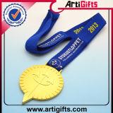 La alta calidad modificó el oro plateado medalla del metal para requisitos particulares