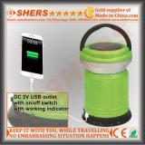 Extensible solar toma USB 15 SMD LED Linterna camping