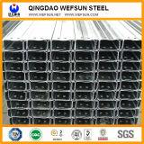 Viga del canal del acero de carbón del material de construcción de la longitud del estándar los 6m del GB C