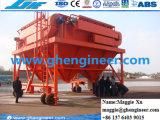 40 Cbm Kanal-handhabende Maschinen-Staub-Sammler-Mobile-Zufuhrbehälter