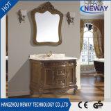 Nuova vanità antica della stanza da bagno di legno solido del Governo del bagno del pavimento
