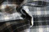 Il filato ha tinto il tessuto, tessuto spazzolato del plaid di T/R, 260GSM, 63%Polyester 34%Rayon 3%Spandex