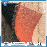 Настил напольного резиновый кирпича спортивной площадки плитки резиновый цветастый напольный резиновый