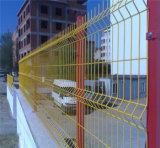 Загородка PVC с столбом персика