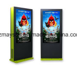 Fußboden-stehende Netz-Digital-Anzeige. Im Freienbekanntmachenbildschirm der Bildschirmanzeige-LED