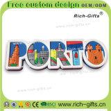 Ímãs personalizados Portugal do refrigerador dos desenhos animados do PVC dos presentes 3D da promoção (RC-PL)