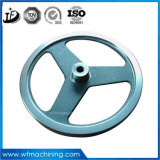 ISO OEM Customized Wrought Iron Pulley Wheel Grey Iron Casting Sand Casting Painting Coating Machining Pulley Fly Wheel