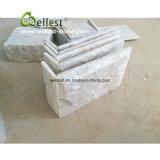 Плитка квадрата кварцита естественного разделения бежевая, плитка гриба и угол стены