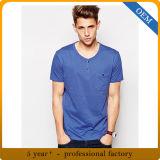 Douane 100% Overhemden van het T-stuk van de Katoenen Koker van Mensen de Korte
