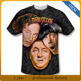 T-shirts personnalisés par impression faite sur commande de sublimation de Mens