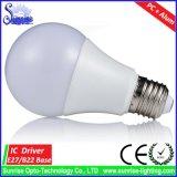 A60/A19 270° Lámpara/luz incandescentes del bulbo de E27 15W LED