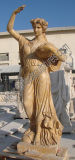 Découpant la statue en pierre de marbre de sculpture pour la décoration de jardin (SY-X1317)