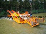 Lançamento da Weed-Estaca e barco de sega e de limpeza automático para a limpeza do mar