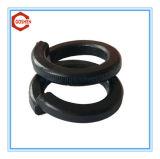 Arruela preta/arruela de pressão aço de carbono/horizontalmente arruela
