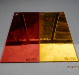 Double feuille acrylique argentée dégrossie en plastique de miroir