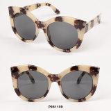 Óculos de sol desproporcionados da forma nova das mulheres com transferência de papel
