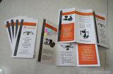Буклет/каталог/брошюра печатание 3 нестандартной конструкции сложенные панелью