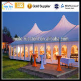 High Peak Nigéria Africa Transparent Marquee Party Wedding Casaco de fachada bonito Customized Event Tent