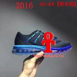 Sapatas 2016 respiráveis do coxim de ar da palma das sapatas Running do engranzamento das sapatas dos homens