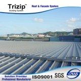 Toiture debout de couture de Trizip reconnue par FM 65-400