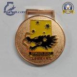 Подгонянное мягкое медаль эмали с отделкой золота
