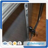Used&#160 ; Profil en aluminium glissant le double guichet en verre avec la moustiquaire