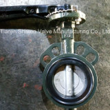 손잡이를 가진 무쇠 또는 연성이 있는 철 EPDM 시트 웨이퍼 나비 벨브