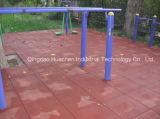 30cmのサイズの屋外のリサイクルされたゴム製床タイル