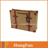 Мешок бумаги Brown Kraft выдвиженческий/мешок покупкы бумажный