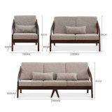 Sofa de meubles de salle de séjour avec le sofa élevé moderne de coin de meubles de maison de tissu