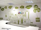 Kundenspezifischer entfernbarer wasserdichter selbstklebender Wand-Aufkleber für das Bekanntmachen