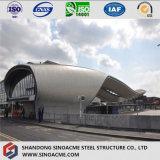 Edificio del braguero del tubo de la estructura de acero para el término de autobuses