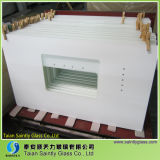 6mm Extra White Printing Tempered Decorative Glass Panel für Kitchen Hood mit Polished Edge