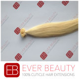 Estensioni piane Pre-Legate dei capelli umani di Remy di punta della cheratina brasiliana